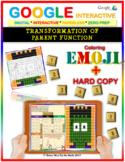 EMOJI - Transformations of Functions (Google Interactive & Hard Copy)
