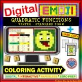 EMOJI - Vertex of Quadratic Function in SF  (Google Interactive & Hard Copy)