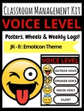 EMOJI Voice Level Classroom Management Kit Posters Emoticon Theme