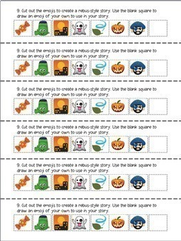 EMOJI WRITING STRIPS – 42 Weeks of Creative Writing Prompts