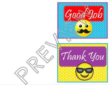 EMOJI Way to Go - Thank You Cards - EDITABLE