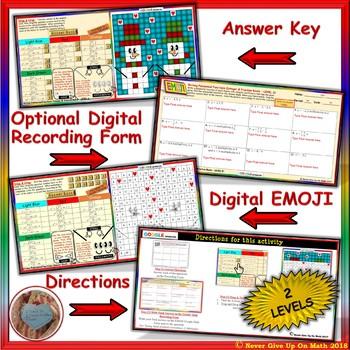 EMOJI - Write Polynomial Functions 2 Levels (Google & Hard Copy)