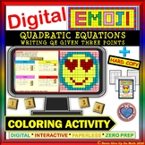 EMOJI - Write Quad Equ from 3 Points  (Google Interactive & Hard Copy)