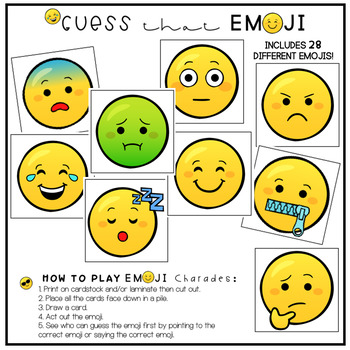 Identifying Emotions Using EMOJIS - For Speech Therapy and Social Skills Groups