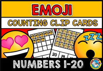 EMOJIS MATH CENTER: COUNTING EMOJI: NUMBERS 1-20