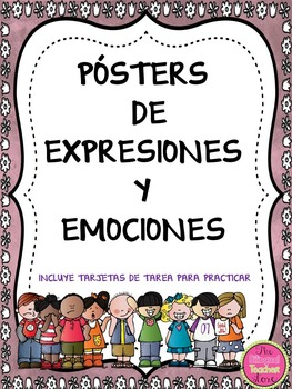 EMOTIONS AND EXPRESSIONS POSTERS IN SPANISH