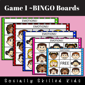 EMOTIONS BINGO! {Differentiated For Multiple Ability Levels}