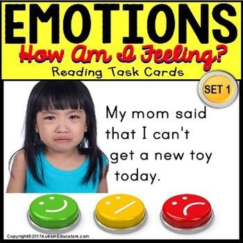 EMOTIONS TASK CARDS for Autism and Special Needs Task Box Filler