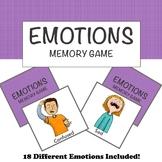EMOTIONS MEMORY MATCH GAME! a fun game to teach children a