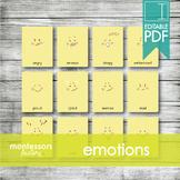 EMOTIONS • Montessori Cards • Flash Cards • Three Part Cards