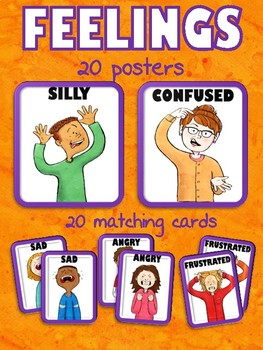 EMOTIONS POSTERS AND MATCHING CARDS