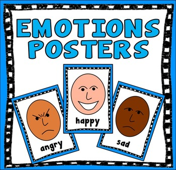 EMOTIONS POSTERS - MULTICULTURAL FACES