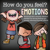 EMOTIONS and FEELINGS - Posters and Writing Worksheets