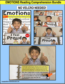 FEELINGS and EMOTIONS Reading Comprehension BUNDLE for Special Education