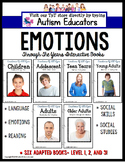 EMOTIONS and FEELINGS ADAPTED BOOKS for Autism and Special Needs Students
