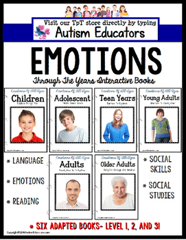 EMOTIONS and FEELINGS ADAPTED BOOK SET for Special Educati