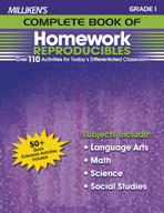 Milliken's Complete Book of Homework Reproducibles: Grade 1