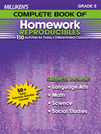 Milliken's Complete Book of Homework Reproducibles: Grade 3 (Enhanced eBook)