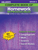 Milliken's Complete Book of Homework Reproducibles: Grade 6 (Enhanced eBook)