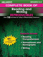 Milliken's Complete Book of Reading and Writing Reproducibles: Grades 3,4