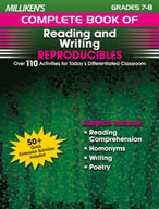Milliken's Complete Book of Reading and Writing Reproducibles: Grades 7,8 (Enhanced eBook)