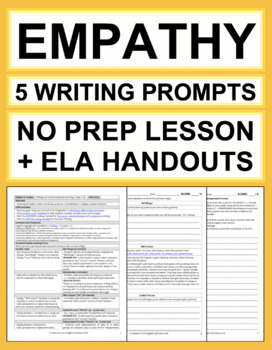 EMPATHY Lessons: 5 Writing Prompts
