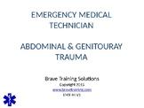 EMT/EMR ABDOMINAL/GENITAL TRAUMA PPT TRAINING PRESENTATION