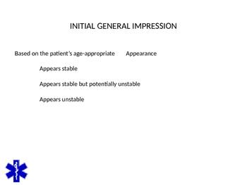 EMT/EMR PRIMARY ASSESSMENT POWERPOINT TRAINING PRESENTATION