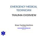 EMT/EMR LESSON TRAUMA OVERVIEW POWERPOINT TRAINING PRESENTATION