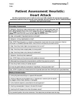 EMT Patient Assessment Heuristic & Skills Graphic Organizer
