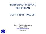 EMT/EMR PPT LESSON ON SOFT TISSUE INJURIES & BURNS