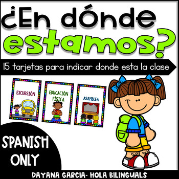 EN DONDE ESTAMOS- Where are we Spanish cards