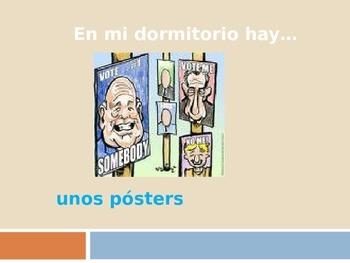EN MI DORMITORIO HAY