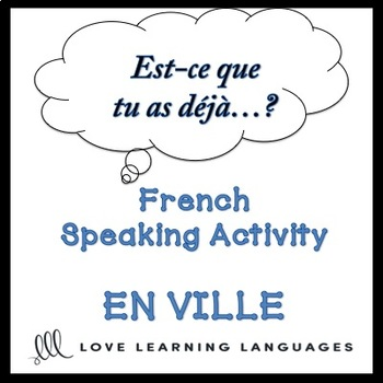 EN VILLE French Find Someone Who Activity:  Est-ce que tu as déjà…?