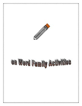 EN WORD FAMILY ACTIVITIES