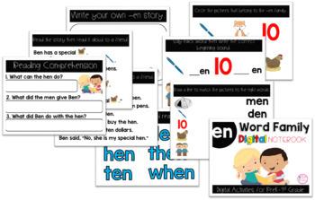 EN Word Family Digital Notebook