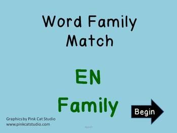 EN Word Family Powerpoint Game