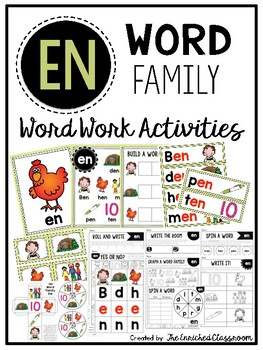 EN Word Family Word Work Activities