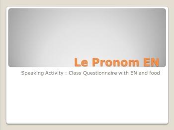 EN : speaking activity with EN and food