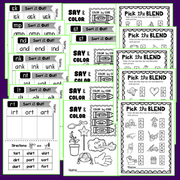 END BLENDS {No Prep Printables!}