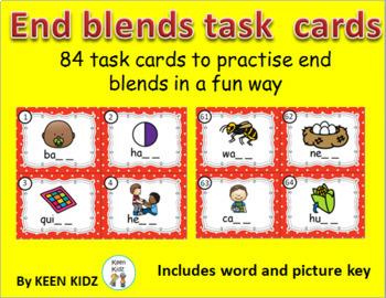 END BLENDS TASK CARDS