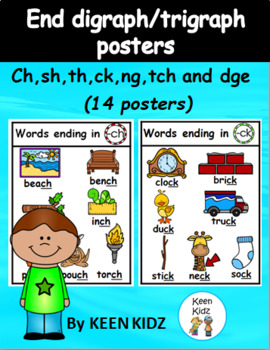 END DIGRAPH POSTERS/ANCHOR CHARTS