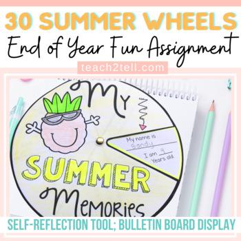 END OF YEAR: SUMMER: 30 WHEELS OF SUMMER MEMORIES: EDITABLE