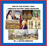 END OF YEAR AMERICAN HISTORY WORD SEARCHES (Wars, Civil Ri