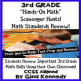 3rd Grade Math Test-Prep, Scavenger Hunts in Your Own Classroom!