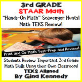 3rd Grade STAAR Math Test-Prep, Scavenger Hunts in Your Own Classroom!