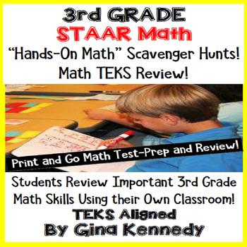 3rd Grade STAAR Math Test-Prep, Scavenger Hunts in Your Ow