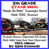 5th Grade STAAR Math Test-Prep, Scavenger Hunts in Your Own Classroom!