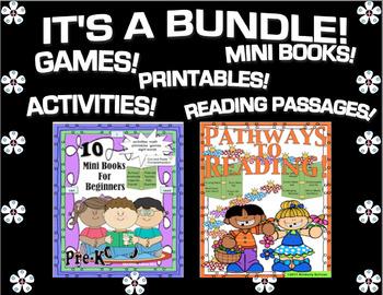 Back to School GAMES PRINTABLES MINI BOOKS Grades k - 1