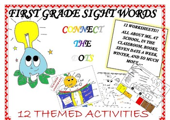 END OF THE YEAR ACTIVITIES - SIGHT WORD CONNECT THE DOTS